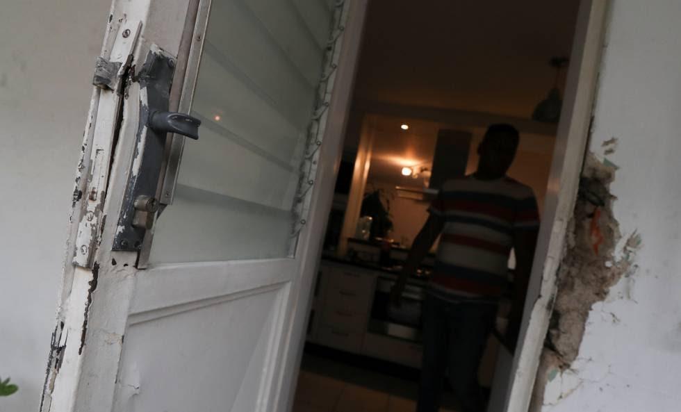 Danos na casa de Roberto Marrero, em Caracas